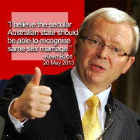 Joseph Morris Kevin Rudd Same Sex Marriage