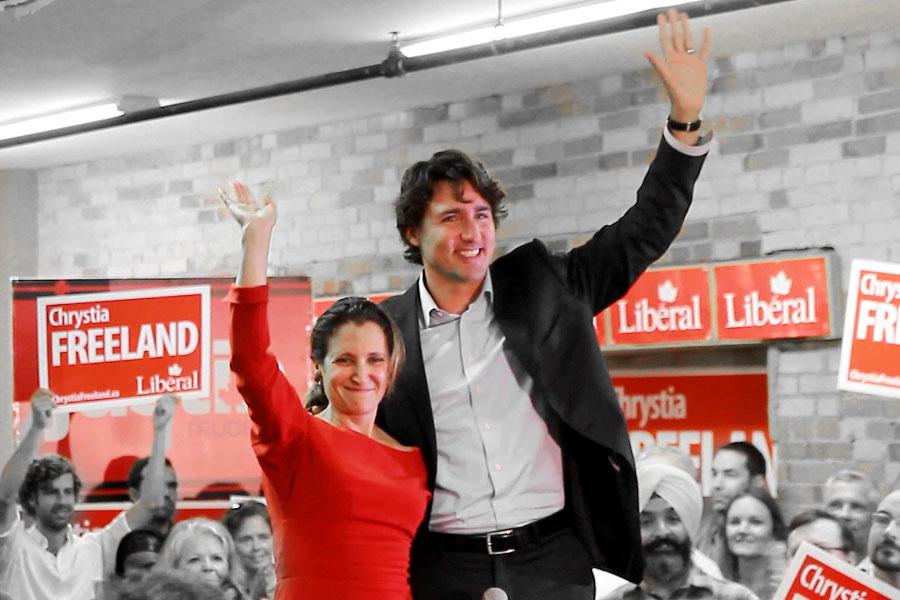 Justin Trudeau Chrystia Freeland Joseph Morris