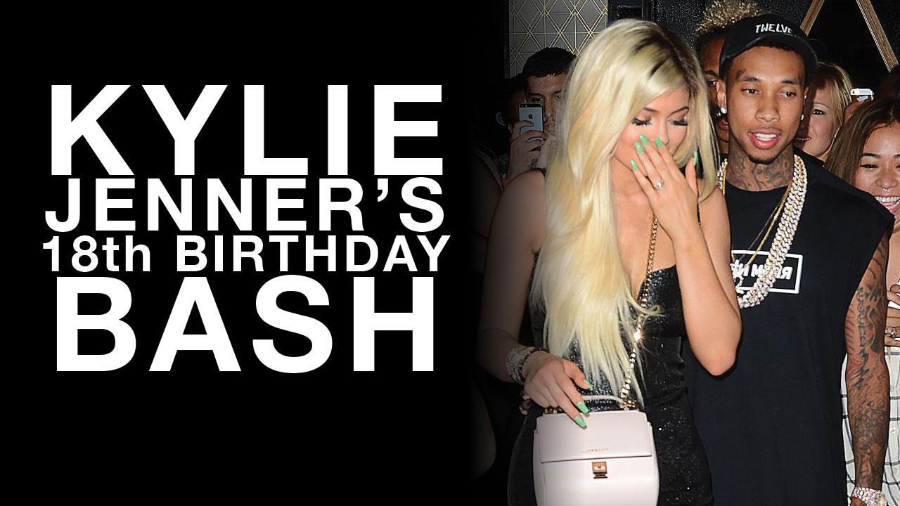 kylie jenner 18th birthday tyga ferrari kim kardashian
