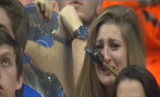 Crying Kentucky Saxophone Girl