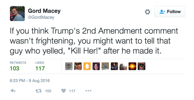 Donald Trump 2nd Amendment Joke