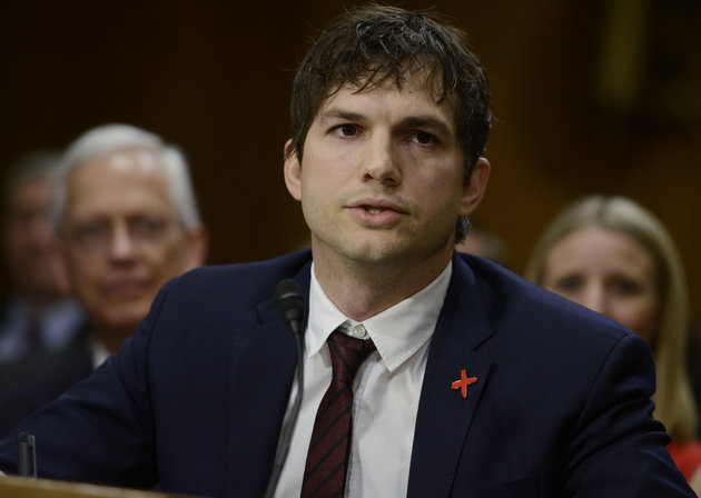 Ashton Kutcher Gives Emotional Testimony at Hearing to End Modern Slavery, Blows Kiss to John McCain