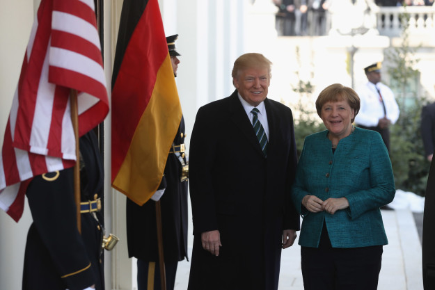 Donald Trump Angela Merkel: Handshake Denied, AWKWARD