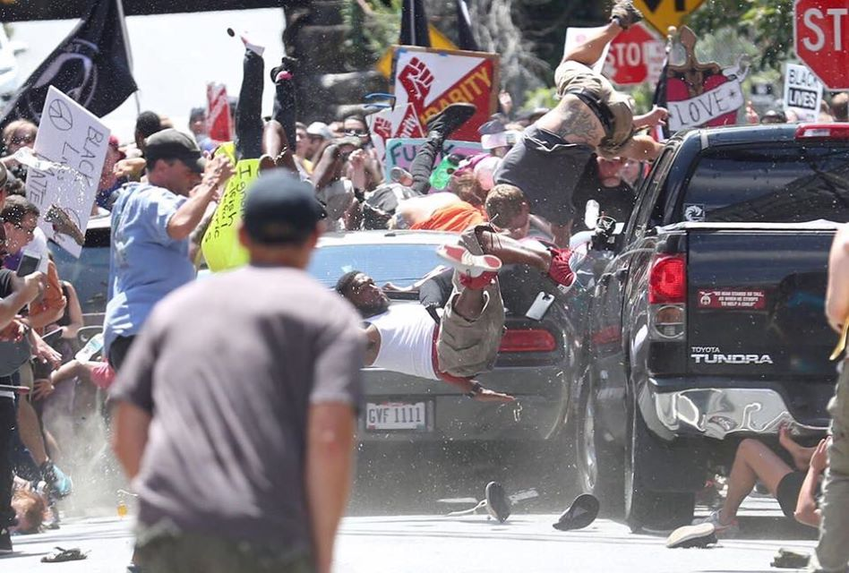 Charlottesville VIOLENT FIGHT CAUGHT, CAR RAMS THROUGH White Nationalists Alt Right March University of Virginia
