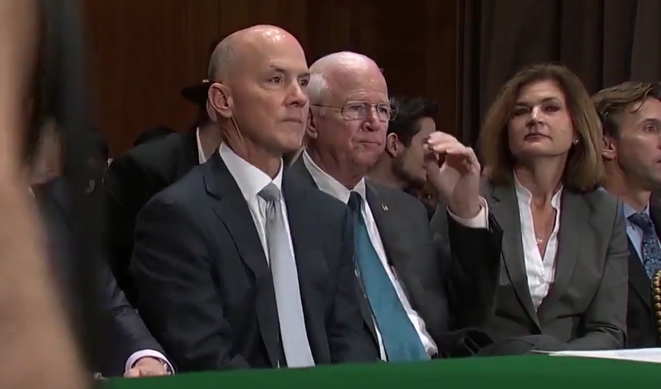 Someone dressed like the Monopoly man photobombed the Senate's Equifax hearing